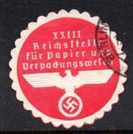 GERMANY WW2 3RD THIRD REICH REICHSSTELL FÜR PAPIER UND VERPADUNGSWESEN PAPER LOADING SIEGELMARKE NAZI GERMAN SEAL - Cartas