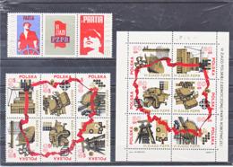 POLOGNE 1971 PARTI DES TRAVAILLEURS Yvert 1971-1978 + BF 56 NEUF** MNH Cote : 4,60 Euros - 1944-.... República