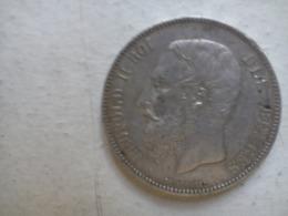 Pièce  5 Francs Argent  LÉOPOLD Il 1871 - 09. 5 Francs