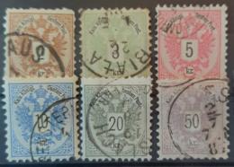 AUSTRIA 1883 - Canceled - ANK 44, 45, 46, 47, 48, 49 - Full Set! - Nuovi