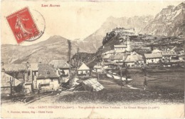 Dépt 04 - UBAYE-SERRE-PONÇON - Saint-Vincent-les-Forts - Vue Générale Et Le Fort Vauban - Le Grand Morgon (2.326 M.) - Francia
