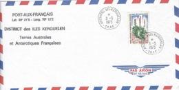TAAF, Archipel Kerguelen, Courrier Du 3 - 05 - 1973 ( Air Mail ) - Tierras Australes Y Antárticas Francesas (TAAF)