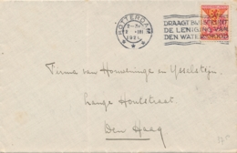 Nederland - 1926 - 10+2,5 Cent Kinderzegel Op Cover Van Rotterdam Naar Den Haag - 1891-1948 (Wilhelmine)