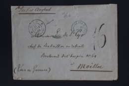 Guyane Francaise Cover Cayenne 1868 A Moissac  Packbot Anglais - Covers & Documents