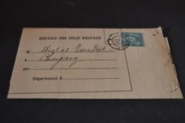 Lettre 1882 Service Des Colis Postaux Paris Pour Chagny - Postmark Collection (Covers)