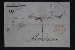 Mauritius Complete Letter 1847 Port Louis ->  Bordeaux - Mauritius (...-1967)