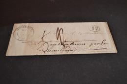 Lettre 1846 Montereau Pour Pau Cachet ID + 7 Cachet Au Dos De Transit - 1801-1848: Précurseurs XIX