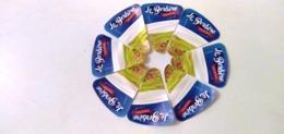 """ALGERIE- 08 ETIQUETTES DE PORTIONSDE FROMAGES-"""" LE BERBERE""""-PRIX SPECIAL - Cheese"""