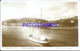 119871 URUGUAY PIRIAPOLIS VISTA PARCIAL & BOAT POSTAL POSTCARD - Uruguay