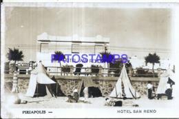 119872 URUGUAY PIRIAPOLIS HOTEL SAN REMO SPOTTED POSTAL POSTCARD - Uruguay