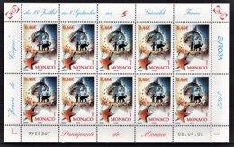 MONACO 2002 - FEUILLE DE 10 TP / N°2348 / NEUFS** - Neufs