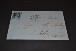 Lettre 1861 Paris Pour Nolay Cachet Paris CS3 + Ambulant Indice 6 - Marcophilie (Lettres)