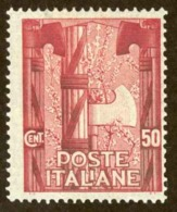 Italy Sc# 161 MH 1923 50c Emblem Of The New Government - Mint/hinged
