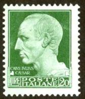 Italy Sc# 229 MH 1929-1942 20l Julius Caesar - 1900-44 Vittorio Emanuele III