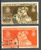 Italy Sc# 239-240 Used 1930 Marriage Of Prince Humbert - 1900-44 Vittorio Emanuele III