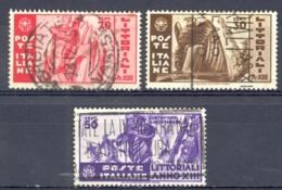 Italy Sc# 342-344 Used 1935 University Contests - 1900-44 Vittorio Emanuele III