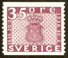 Sweden Sc# 257 MNH Coil 1936 35o Plum Definitives - Sweden