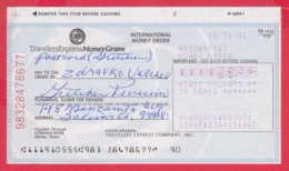 248652 / Travelers Express And MoneyGram Compass Bank  Dallas Texas , Chèque Cheque Check Scheck - Cheques En Traveller's Cheques