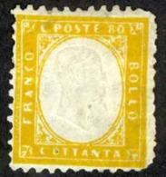 Italy Sc# 21 MH 1862 80c Orange King Victor Emmanuel II - 1861-78 Vittorio Emanuele II