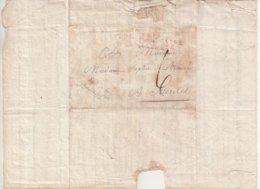 """FRANCE : MARQUE POSTALE . """" N° 19 ARM FRANCAISE EN ESPAGNE  """" . EN ROUGE  . AB .  1811 . - Marcophilie (Lettres)"""