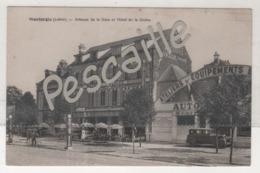 45 LOIRET - CP MONTARGIS - AVENUE DE LA GARE ET HOTEL DE LA GLOIRE - GARAGE AUTOMOBILE POMPE A ESSENCE - L. LENORMAND - Montargis