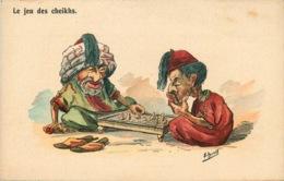 ILLUSTRATEUR E. HERZIG ( Afrique Du Nord ) LE JEU DES CHEIKHS Echecs - Illustrateurs & Photographes