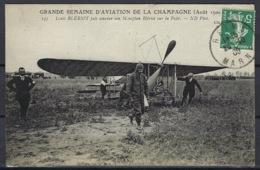CPA, Louis Blériot Fait Amener Son Monoplan Blériot Sur La Piste, Grande Semaine D'aviation De La Champagne - Aout 1900 - ....-1914: Precursors
