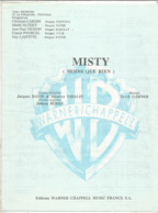 Partition Musicale Ancienne  ,Jacques DATIN & Maurice VIDALIN ,Errol GARNER ,MISTY ,MOINS QUE RIEN , Frais Fr 1.85 - Partituren