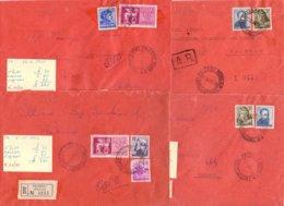 Lotto 12 4 Lettere Con Michelangiolesca Anni 60  026 - 6. 1946-.. Repubblica