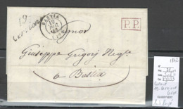 France - Lettre De CERVIONE - Corse - Cursive - Taxée 2 Centimes Au Verso - Lettre Locale -1842 - Marcophilie (Lettres)