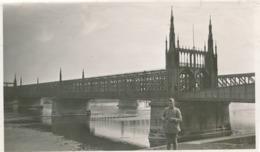 Snapshot Argentique Pont De Kehl Militaria Soldat Côté Français Signé - Guerre, Militaire