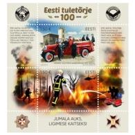 Estonia Estland Estonie 2019 (20) Estonian Firefighting - 100 Years (s/sh) - Estonia
