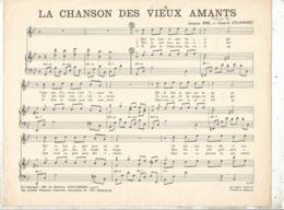 Partition Musicale Ancienne , JACQUES BREL ,GERARD JOUANNEST ,LA CHANSON DES VIEUX AMANTS , Frais Fr 1.85 - Partituren