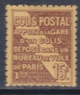 France Colis Postaux N° 54  X Apport à La Gare : 15 C. Brun Sur Jaune  Trace De Charnière Sinon TB - Neufs