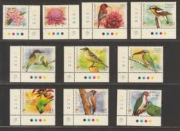 Singapore 2007, Definitive Stamps, 2007A, First Print, 10v, Flower, Bird, Birds, MNH** - Singapore (1959-...)