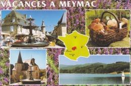 19 CORREZE - MEYMAC -CARTE GEOGRAPHIQUE DE LA FRANCE ET DU DEPARTEMENT AVEC MULTIVUES - Cartes Géographiques