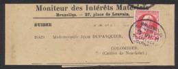 """Grosse Barbe - N°74 SBD Sur Bandelette De Journal Complète """"Montieur Des Intérêts Matériele"""" + Obl Journal Bilingue - 1905 Thick Beard"""