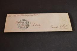 Lettre 1854 Pour Le Journal Le Pays Cachet Bleu 1° Distribution 7H30 + 15 Centimes Indice 16 - Storia Postale