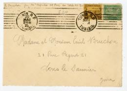 TUNISIE (RF) - N° Yt 76+101 Obli. ROULETTE DE TUNIS RP 1925 POUR LONS LE SAUNIER - Tunisia (1888-1955)