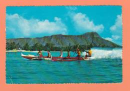 CARTE PUB PENTOTHAL SODICO OUTRIGGER CANOE WAIKIKI DE 1956 SANS TIMBRE HONOLULU HAWAII - Cartes Postales