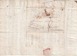 """FRANCE : MARQUE POSTALE . """" N° 19 ARM FRANCAISE EN ESPAGNE  """" . EN ROUGE  . ( FAIBLE ) . 1811 . - Marcophilie (Lettres)"""