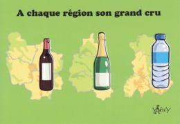 CARTE HUMORISTIQUE DE TROIS REGIONS - BOURGOGNE / CHAMPAGNE - AUVERGNE - Cartes Géographiques