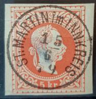 "AUSTRIA 1867/74 - Canceled - ANK 35 - Nice Stamp ""St. Martin Im Innkreis"" - Usados"