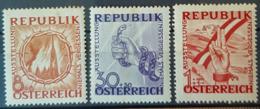 AUSTRIA 1946 - MLH - ANK 786, 788, 790 - Antifa - 1945-.... 2. Republik