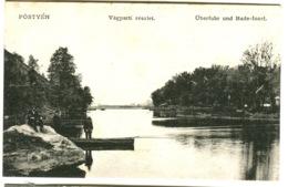 PÖSTYEN BAD PISTYAN Vágparti Részlet BAD PISTYAN Überfuhr Und Bade-Insel C. 1908 - Hungría