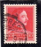 ALBANIA SHQIPERISE 1930 KING ZOG I RE 10q USATO USED OBLITERE' - Albanien