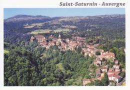 63 PUY DE DÔME - SAINT SATURNIN - VUE UNIQUE ET AERIENNE DU VILLAGE - France