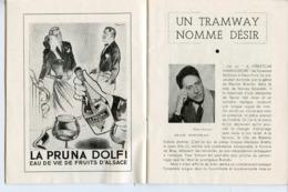 PROGRAMME THEATRE EDOUARD VII 1949 UN TRAMWAY NOMME DESIR COCTEAU ARLETTY YVES VINCENT DE FUNES IVERNEL - Programas