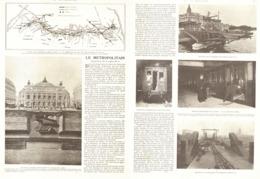 """METROPOLITAIN De """" PARIS """" OUVERTURE De La LIGNE N° 3     1904 - Chemin De Fer"""