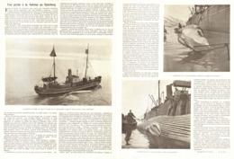 """UNE PECHE à La BALEINE Au  """" SPITZBERG """"   1904 - Boats"""